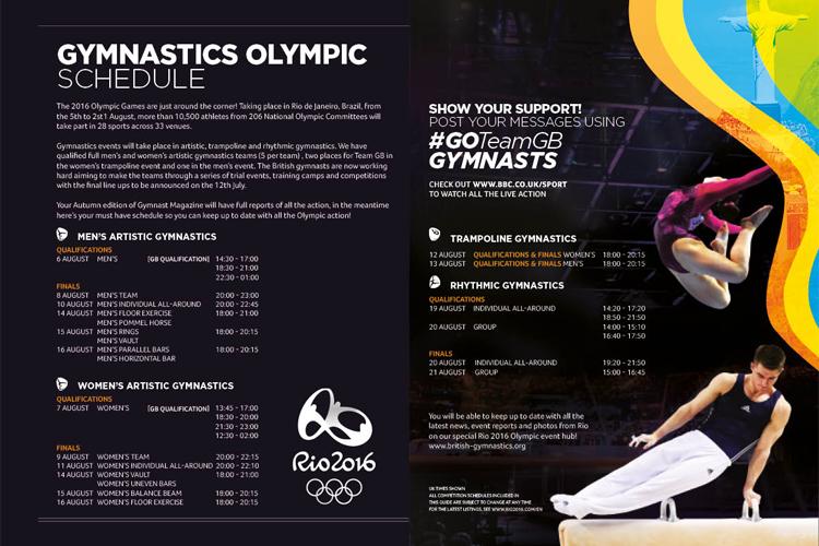Rio gymnastics schedule