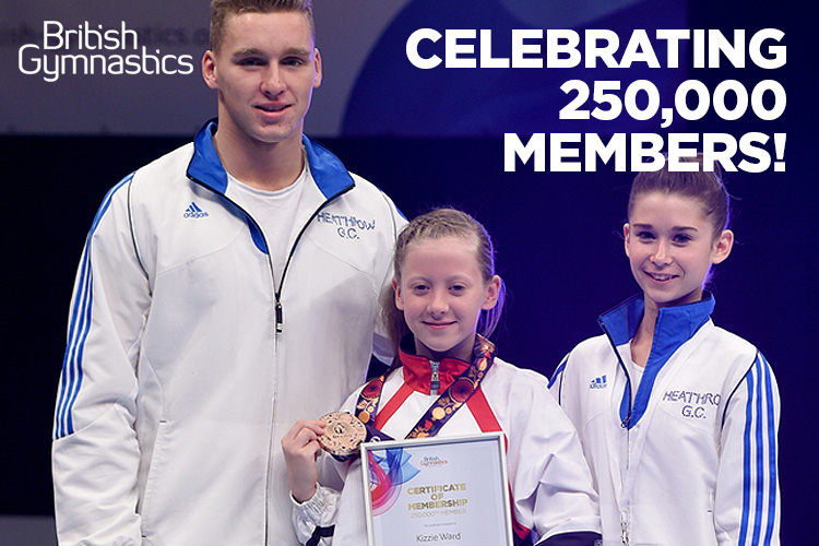 British Gymnastics reaches 250,000 members