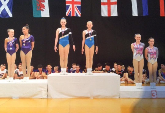 Gillingham Gymnasts Excel at Heathrow Aerobic International