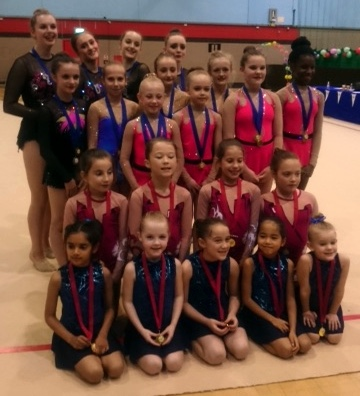West Midlands Rhythmic Championships Duets, Trios and Groups Results 1st Nov 2015