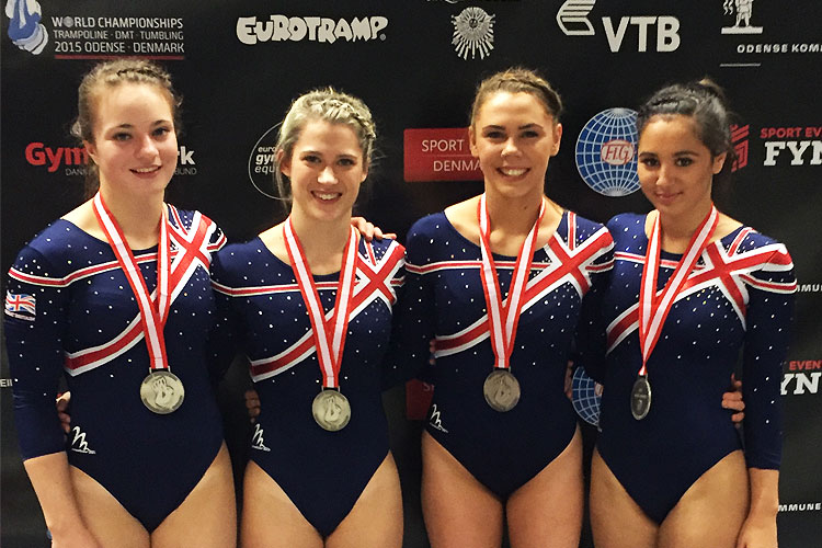 World silver for GB women's tumbling team